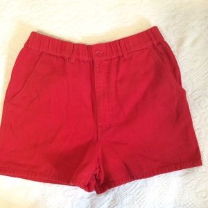Vintage 80s red high waisted shorts